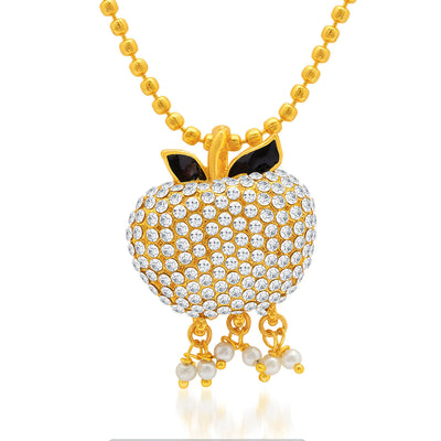 Sukkhi Dazzling Gold Plated AD Pendant Set for Women-1