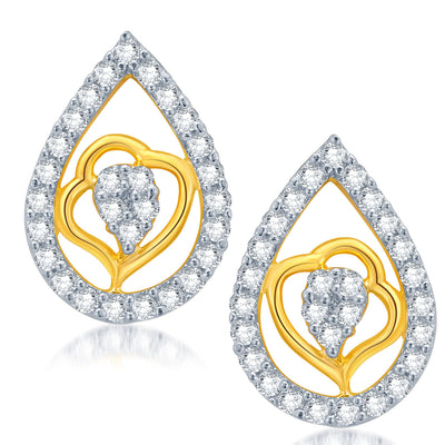 Pissara Exquisite Gold and Rhodium Plated CZ Pendant Set for Women-2