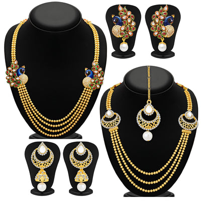 Sukkhi Fine Gold Plated Set of 2 Necklace Set Combo For Women