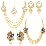 Sukkhi Fine Gold Plated Set of 2 Necklace Set Combo For Women-1