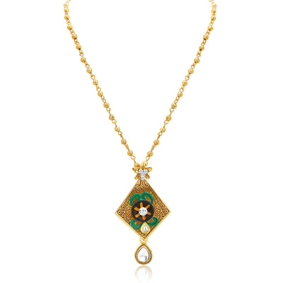 Sukkhi Artistically Gold Plated Pendant Set For Women-3