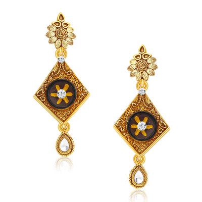 Sukkhi Artistically Gold Plated Pendant Set For Women-5