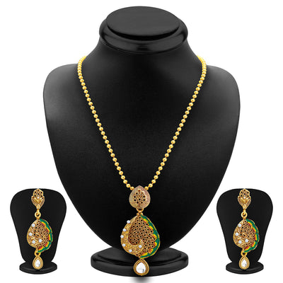 Sukkhi Sublime Gold Plated Pendant Set For Women