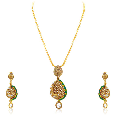 Sukkhi Sublime Gold Plated Pendant Set For Women-1