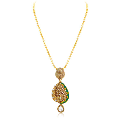 Sukkhi Sublime Gold Plated Pendant Set For Women-3