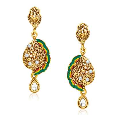 Sukkhi Sublime Gold Plated Pendant Set For Women-5