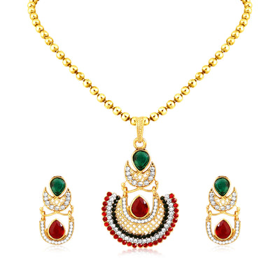 Sukkhi Blossomy Gold Plated Pendant Set For Women