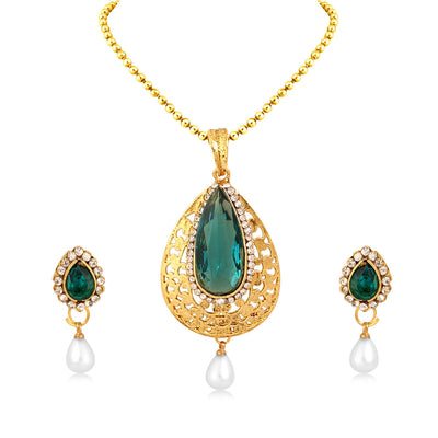 Sukkhi Angelic Gold Plated Pendant Set For Women
