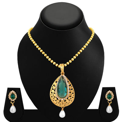 Sukkhi Angelic Gold Plated Pendant Set For Women-1