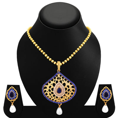 Sukkhi Wavy Gold Plated Pendant Set For Women-1