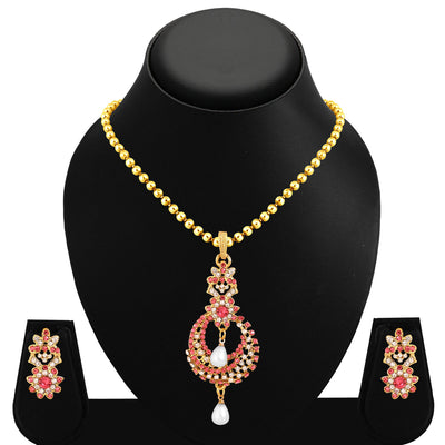 Sukkhi Glorious Gold Plated Pendant Set For Women-1