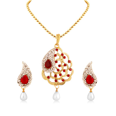Sukkhi Fascinating Gold Plated Pendant Set For Women