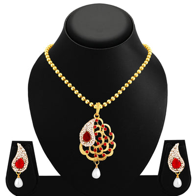 Sukkhi Fascinating Gold Plated Pendant Set For Women-1