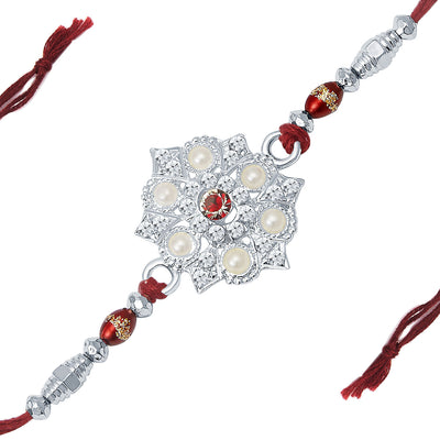 Sukkhi Rhodium Plated Set of 2 Designer Rakhi Combo-1