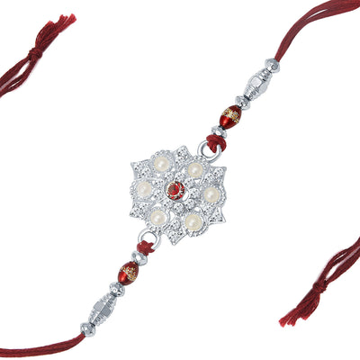 Sukkhi Rhodium Plated Set of 2 Designer Rakhi Combo-2