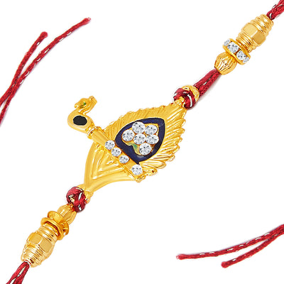 Sukkhi Gold and Rhodium Plated Set of 2 Designer Rakhi Combo-1