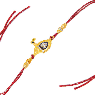 Sukkhi Gold and Rhodium Plated Set of 2 Designer Rakhi Combo-2