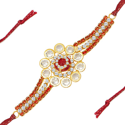 Sukkhi Stylish Gold Plated Designer AD Rakhi