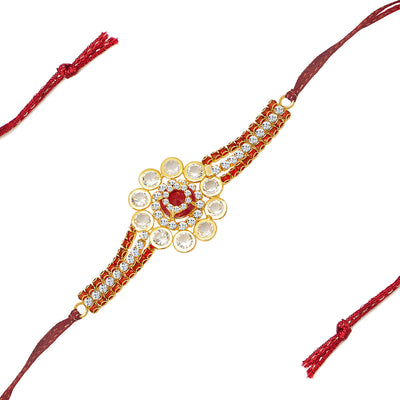 Sukkhi Stylish Gold Plated Designer AD Rakhi-1