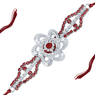 Sukkhi Rhodium Plated Set of 2 Designer Rakhi Combo-3