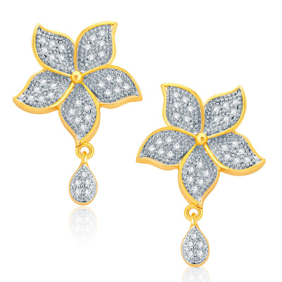 Pissara Luminous Gold And Rhodium Plated CZ Pendant Set For Women-2
