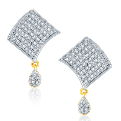 Pissara Cheerful Gold And Rhodium Plated CZ Pendant Set For Women-2
