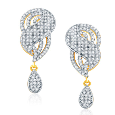 Pissara Jovial Gold And Rhodium Plated CZ Pendant Set For Women-2