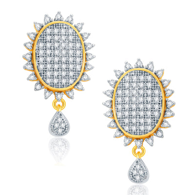 Pissara Winsome Gold And Rhodium Plated CZ Pendant Set For Women-2