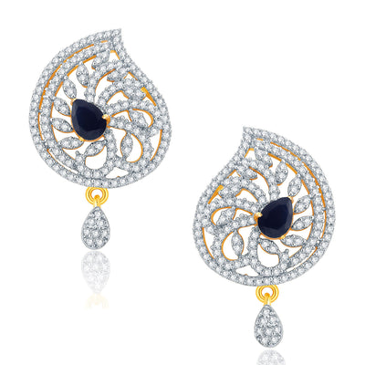 Pissara Attractive Gold And Rhodium Plated CZ Pendant Set For Women-2