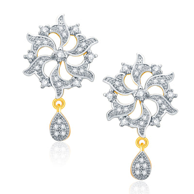 Pissara Amazing Gold And Rhodium Plated CZ Pendant Set For Women-2