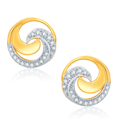 Pissara Harmonious Gold And Rhodium Plated CZ Pendant Set For Women-2