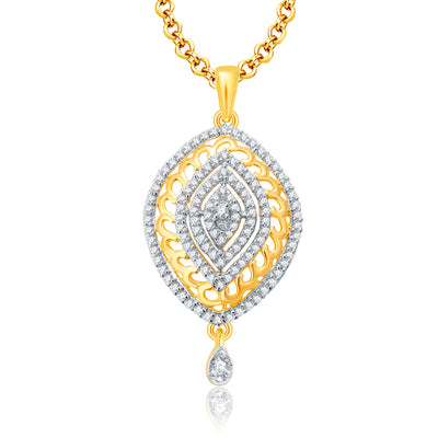 Pissara Joyous Gold And Rhodium Plated CZ Pendant Set For Women-1