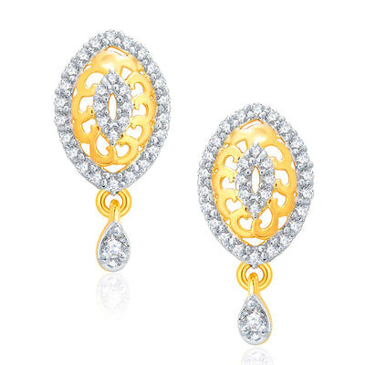 Pissara Joyous Gold And Rhodium Plated CZ Pendant Set For Women-2