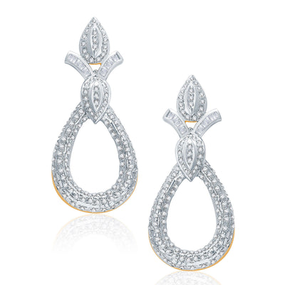Pissara Feminine Gold And Rhodium Plated CZ Pendant Set For Women-2