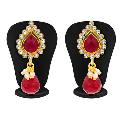 Sukkhi Ritzy Jalebi Gold Plated AD Pendant Set For Women-5