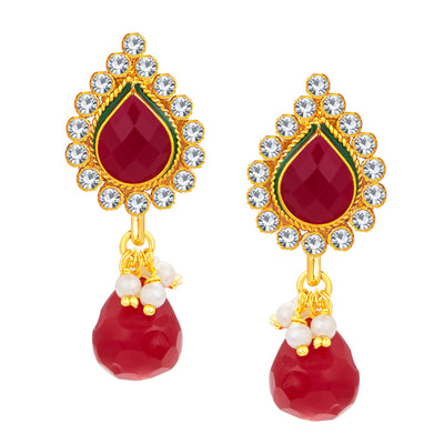 Sukkhi Ritzy Jalebi Gold Plated AD Pendant Set For Women-4