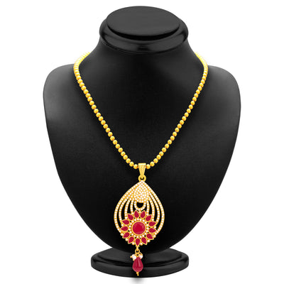 Sukkhi Dazzling Gold Plated AD Pendant Set For Women-3