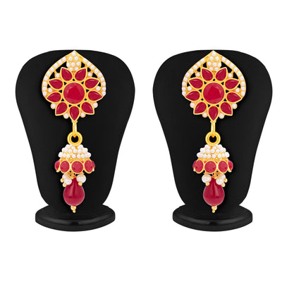 Sukkhi Dazzling Gold Plated AD Pendant Set For Women-5