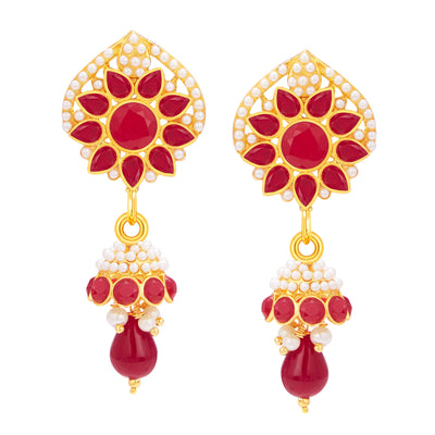 Sukkhi Dazzling Gold Plated AD Pendant Set For Women-4