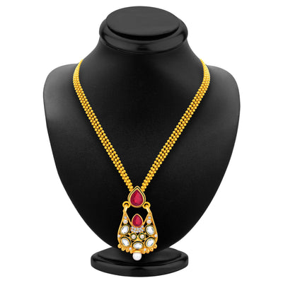Sukkhi Astonishing Gold Plated AD Pendant Set For Women-3