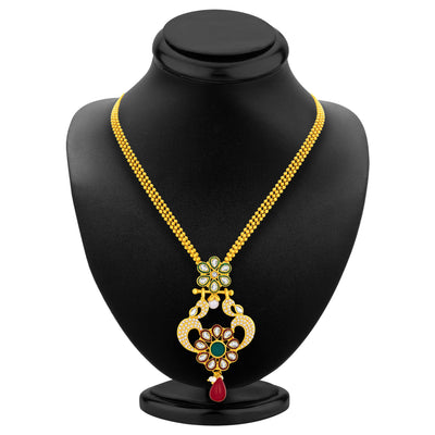 Sukkhi Fashionable Gold Plated AD Pendant Set For Women-3