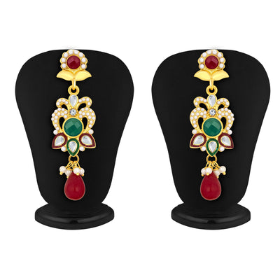 Sukkhi Fashionable Gold Plated AD Pendant Set For Women-5