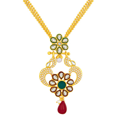 Sukkhi Fashionable Gold Plated AD Pendant Set For Women-2
