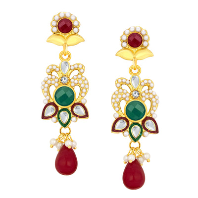 Sukkhi Fashionable Gold Plated AD Pendant Set For Women-4
