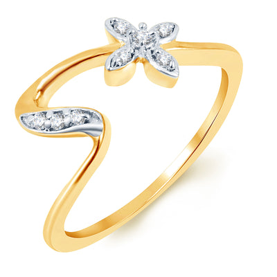 Sukkhi Delightful Gold Plated CZ Set of 3 Ladies Ring Combo For Women-1