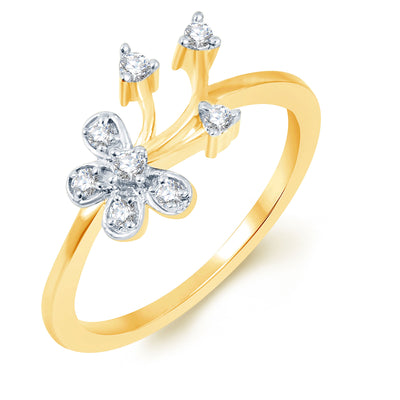 Sukkhi Delightful Gold Plated CZ Set of 3 Ladies Ring Combo For Women-3