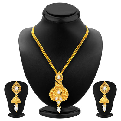 Sukkhi Glistening Gold Plated Pendant Set For Women-1