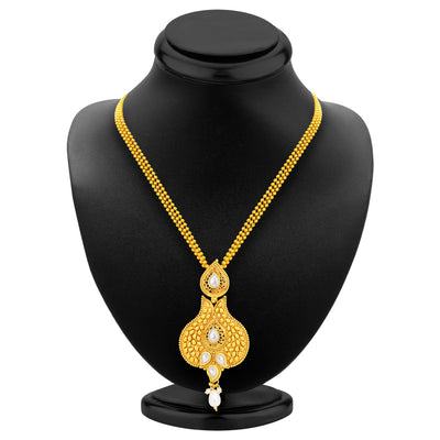 Sukkhi Glistening Gold Plated Pendant Set For Women-3