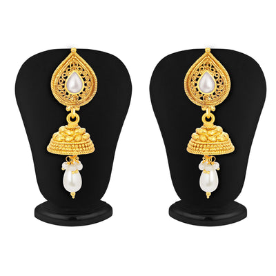 Sukkhi Glistening Gold Plated Pendant Set For Women-5
