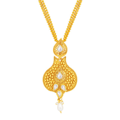 Sukkhi Glistening Gold Plated Pendant Set For Women-2